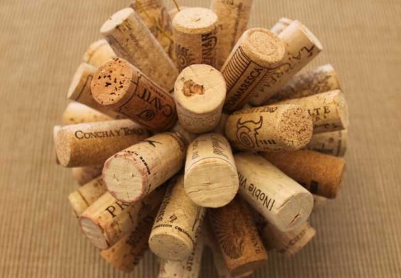 Wine Cork Ball - tutorial